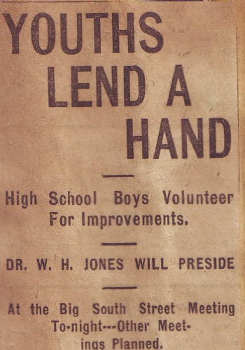 Youth Lend A Hand