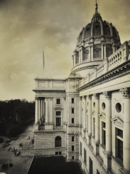 The exterior of the new Capitol Building.