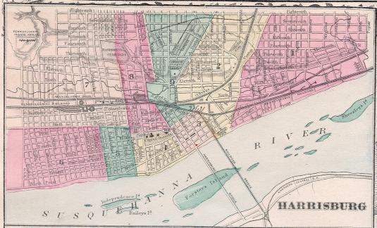 harrisburg 1900 map